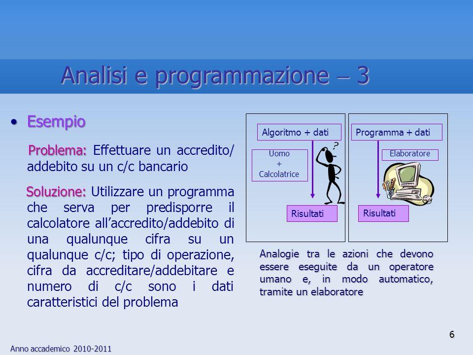 Analisi e programmazione  3