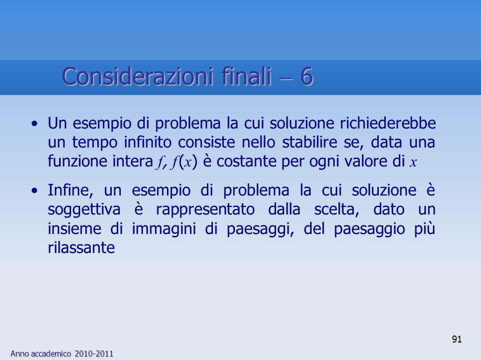 Considerazioni finali  6