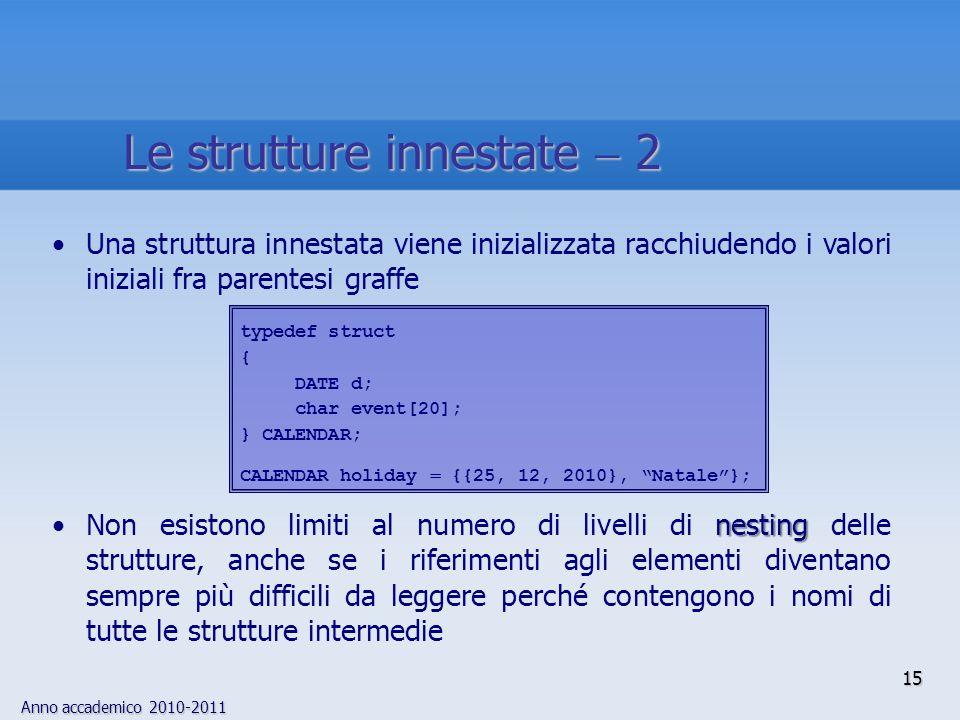 Le strutture innestate  2