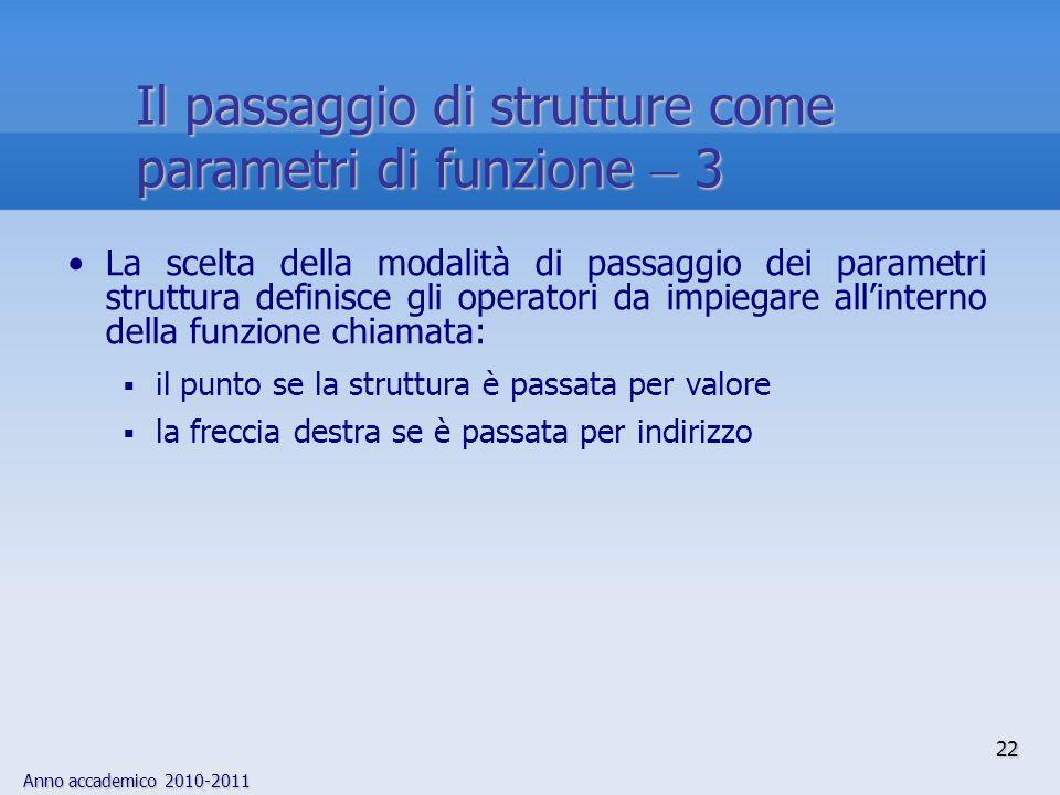 Il passaggio di strutture come parametri di funzione  3