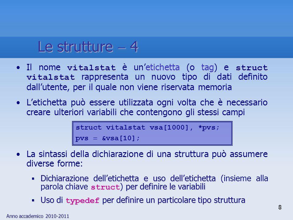Le strutture  4