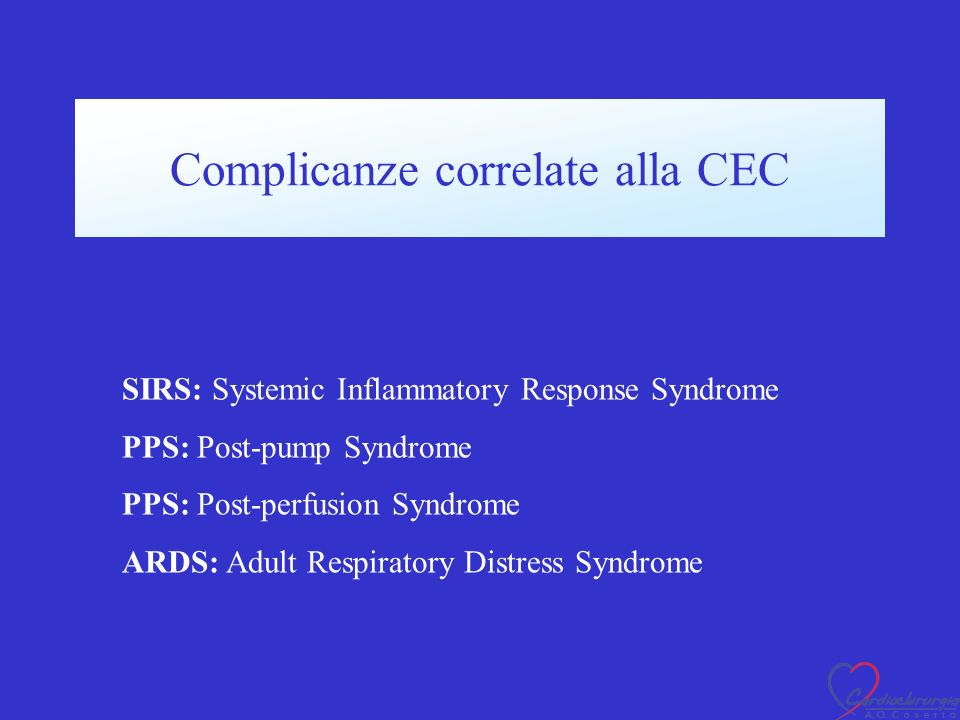 Complicanze correlate alla CEC