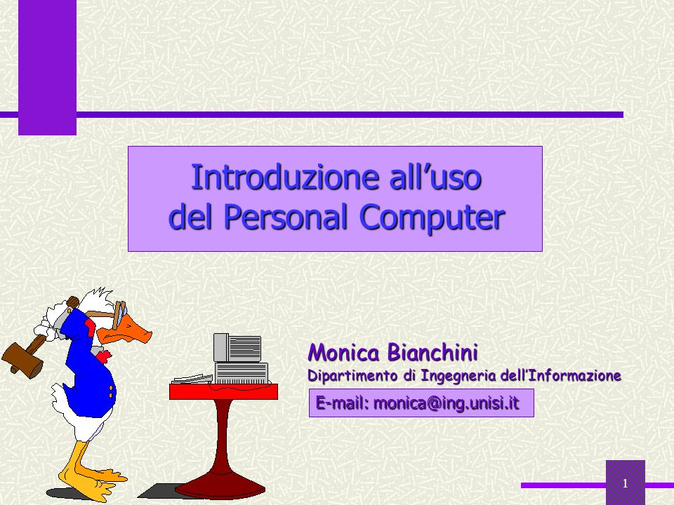Introduzione all'uso del Personal Computer