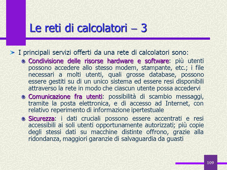 Le reti di calcolatori  3