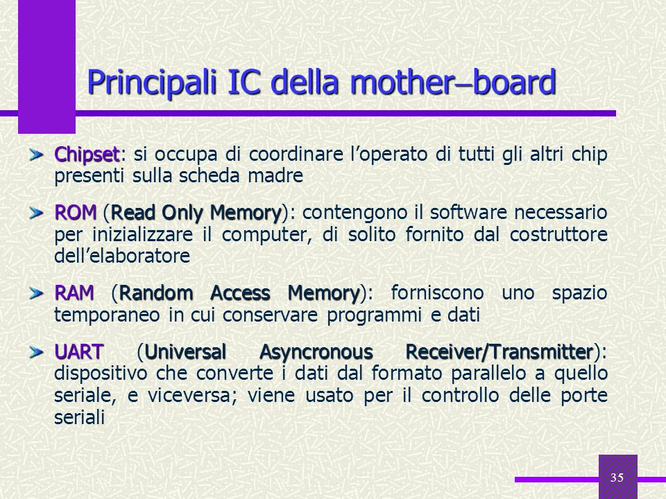 Principali IC della motherboard