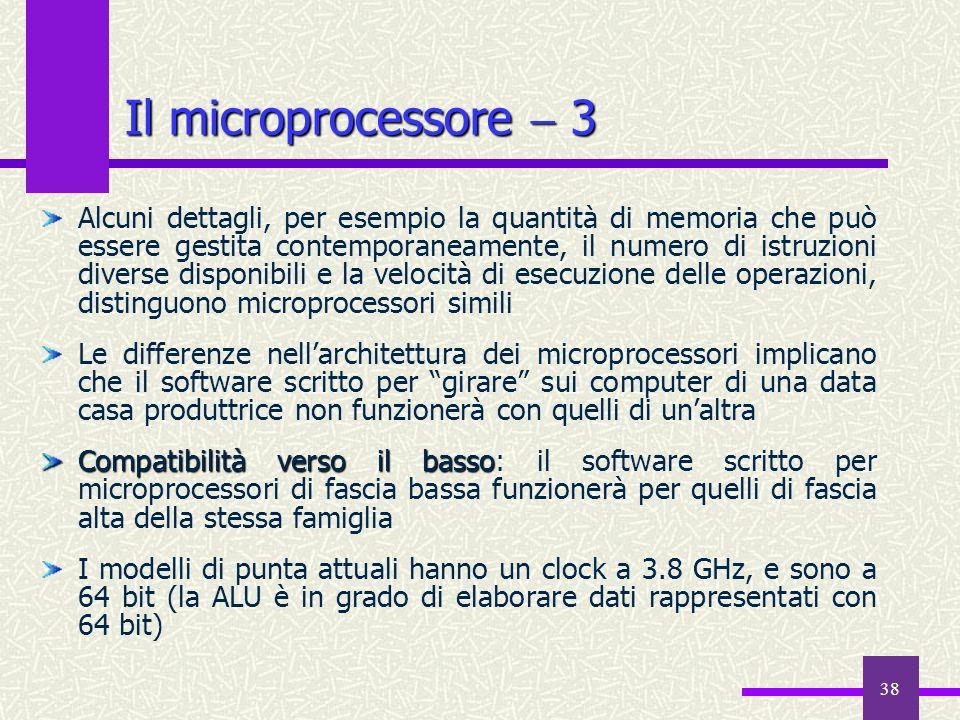 Il microprocessore  3