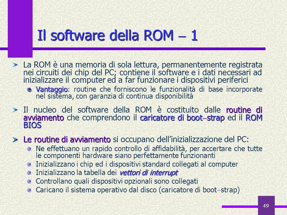 Il software della ROM  1