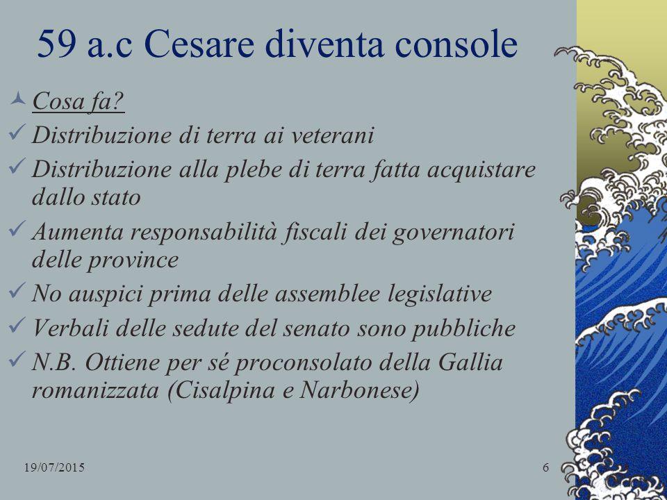 59 a.c Cesare diventa console