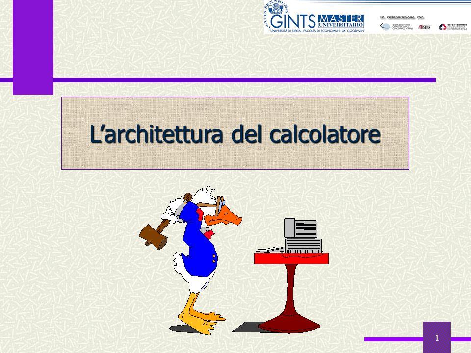 L'architettura del calcolatore