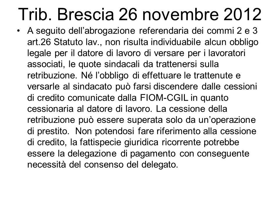 Trib. Brescia 26 novembre 2012