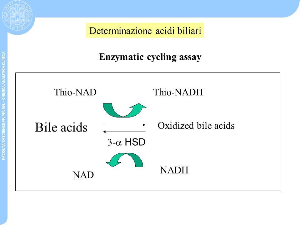 Bile acids Determinazione acidi biliari Enzymatic cycling assay