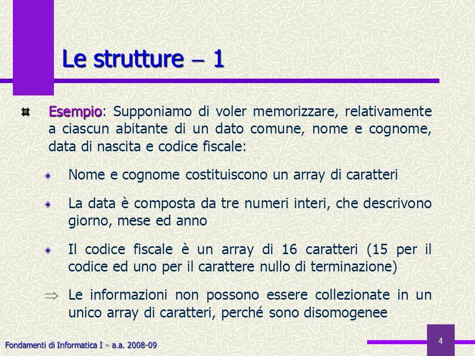 Le strutture  1