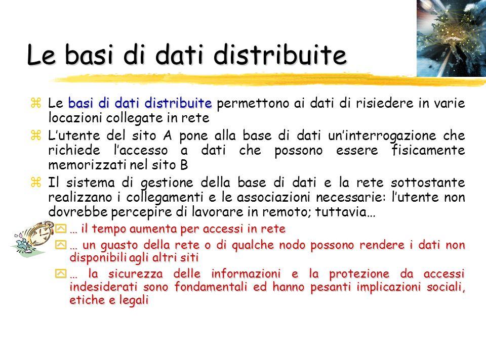 Le basi di dati distribuite