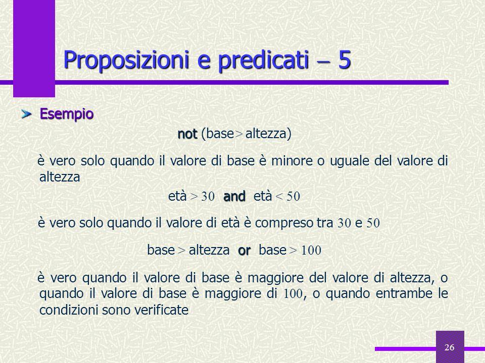 Proposizioni e predicati  5
