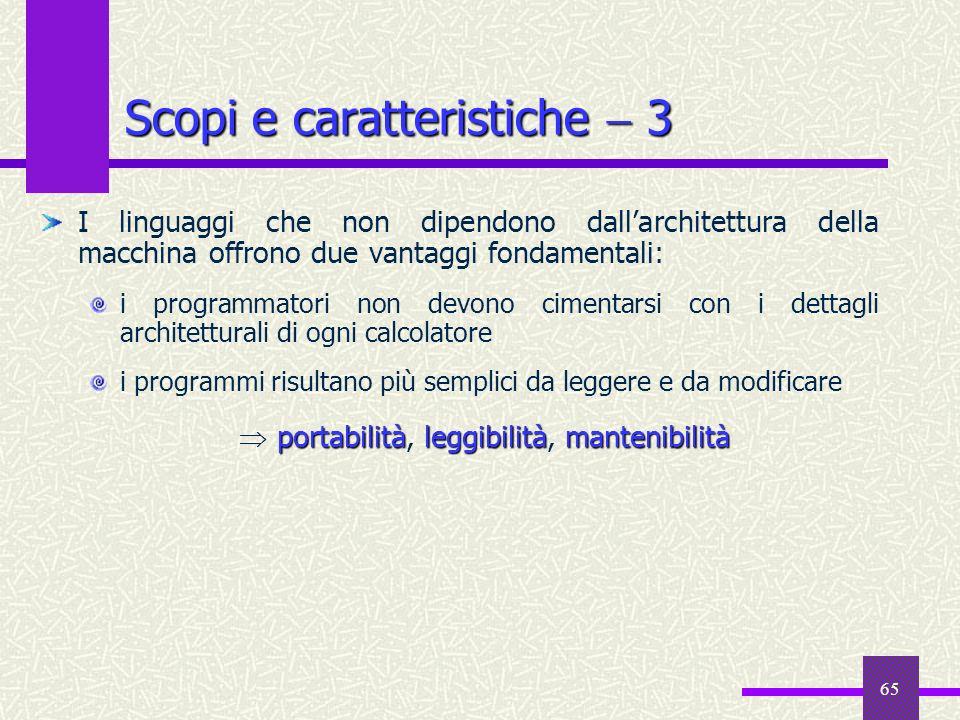Scopi e caratteristiche  3
