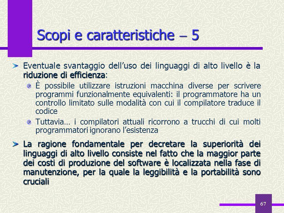 Scopi e caratteristiche  5