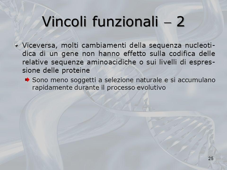 Vincoli funzionali  2