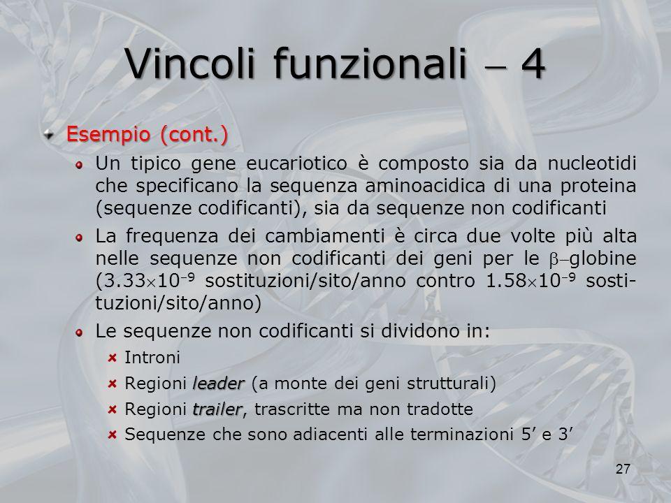 Vincoli funzionali  4 Esempio (cont.)