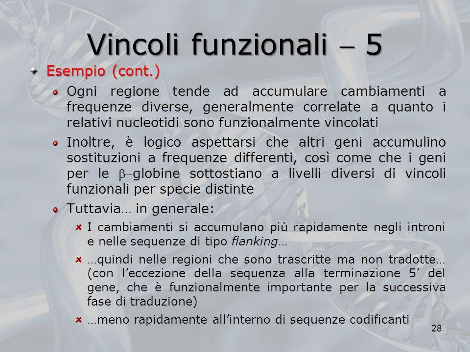 Vincoli funzionali  5 Esempio (cont.)