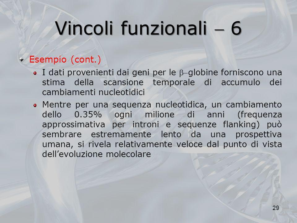 Vincoli funzionali  6 Esempio (cont.)