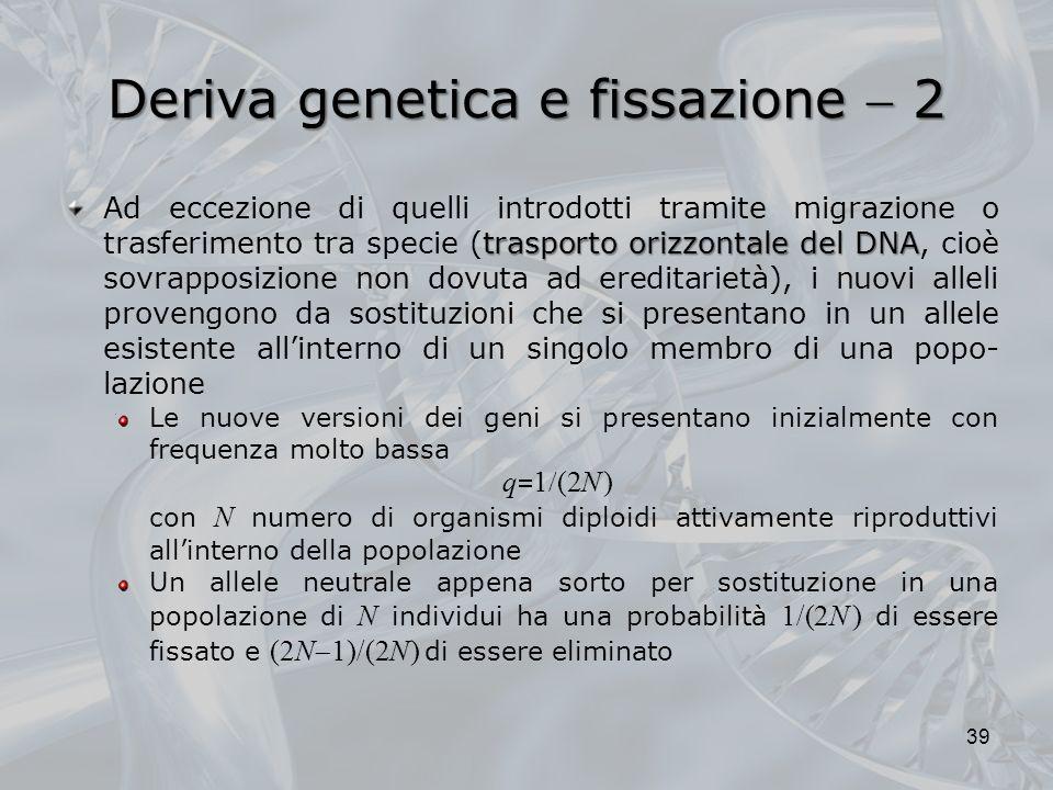Deriva genetica e fissazione  2