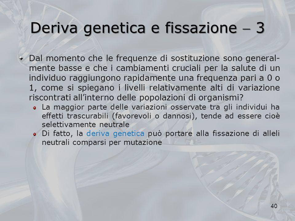 Deriva genetica e fissazione  3