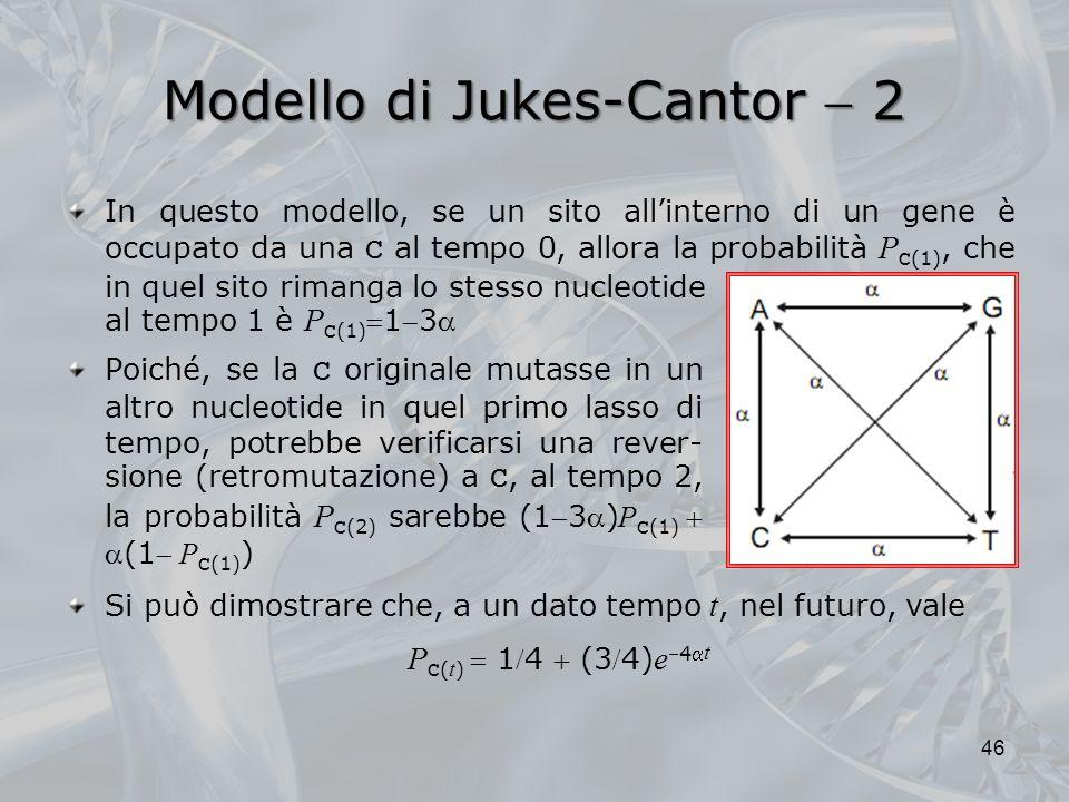 Modello di Jukes-Cantor  2