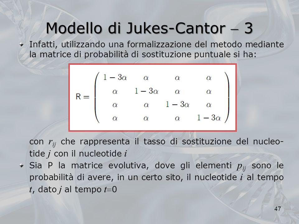 Modello di Jukes-Cantor  3