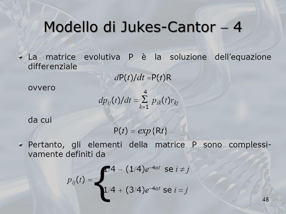 Modello di Jukes-Cantor  4
