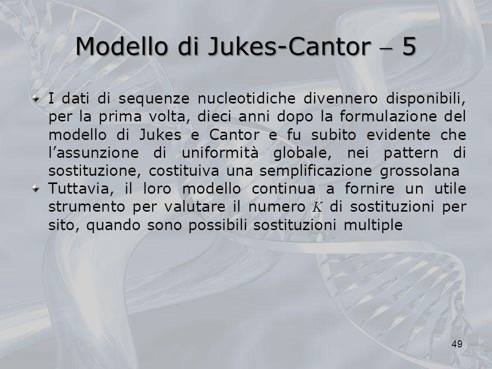 Modello di Jukes-Cantor  5