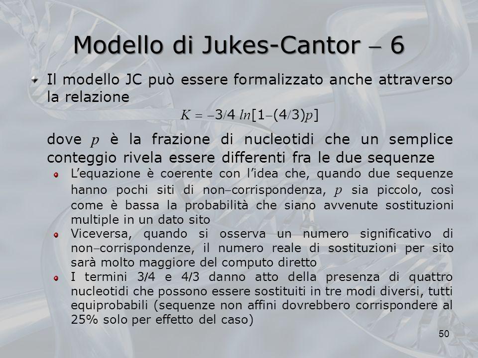 Modello di Jukes-Cantor  6