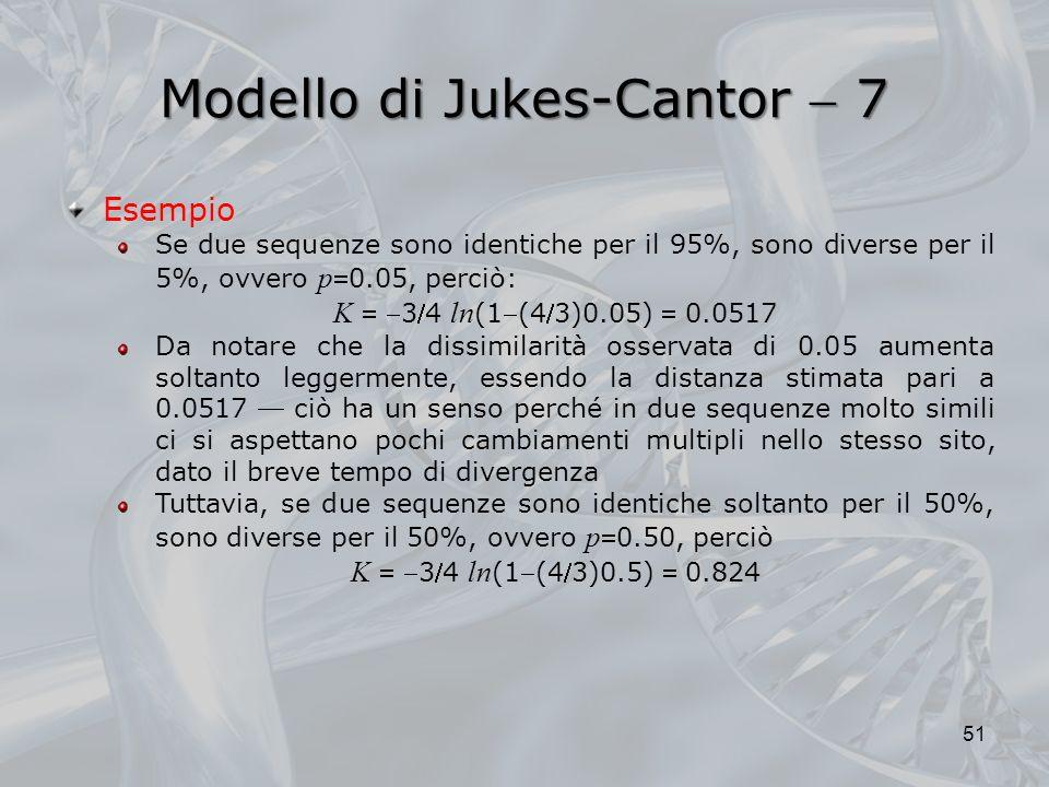 Modello di Jukes-Cantor  7