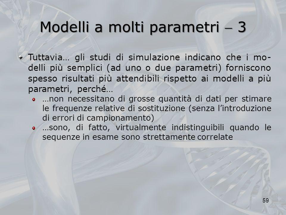 Modelli a molti parametri  3