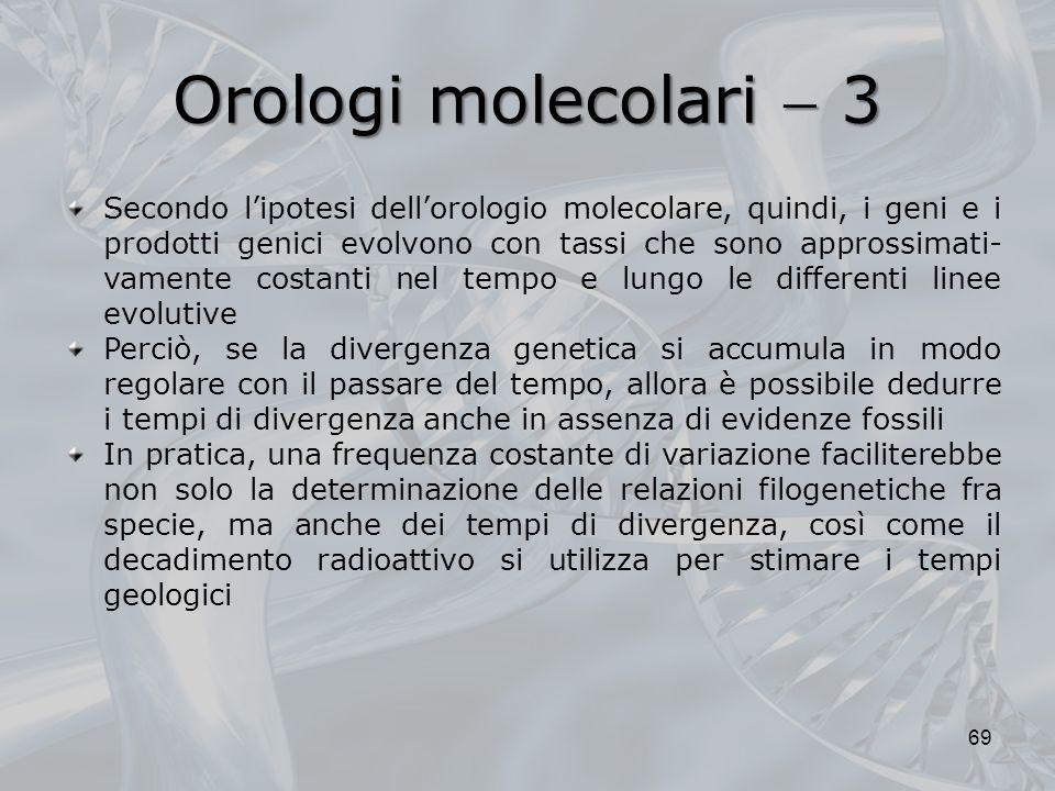 Orologi molecolari  3