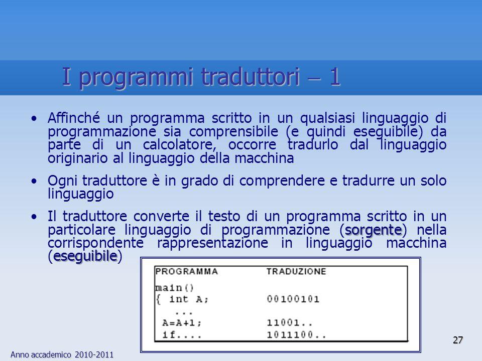I programmi traduttori  1