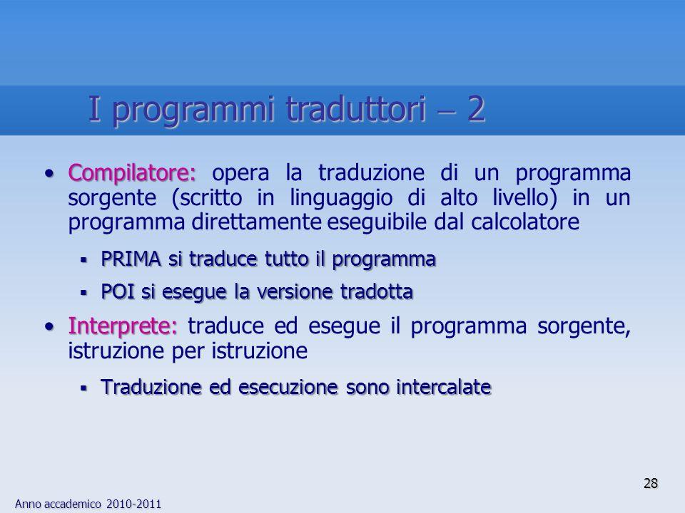 I programmi traduttori  2