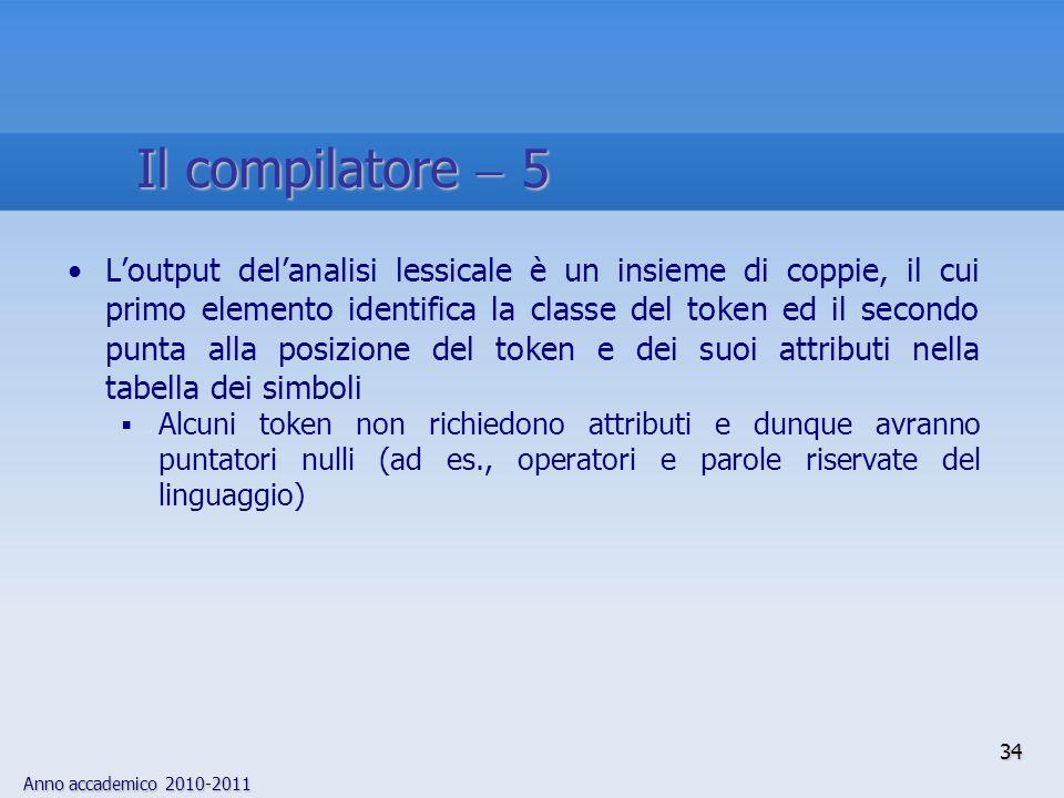 Il compilatore  5