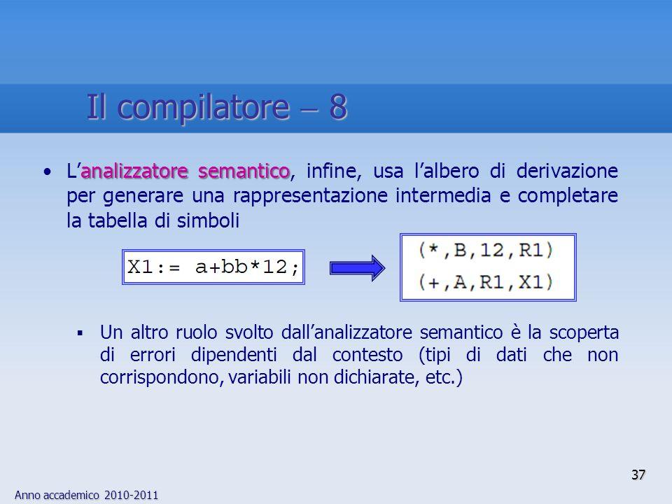 Il compilatore  8