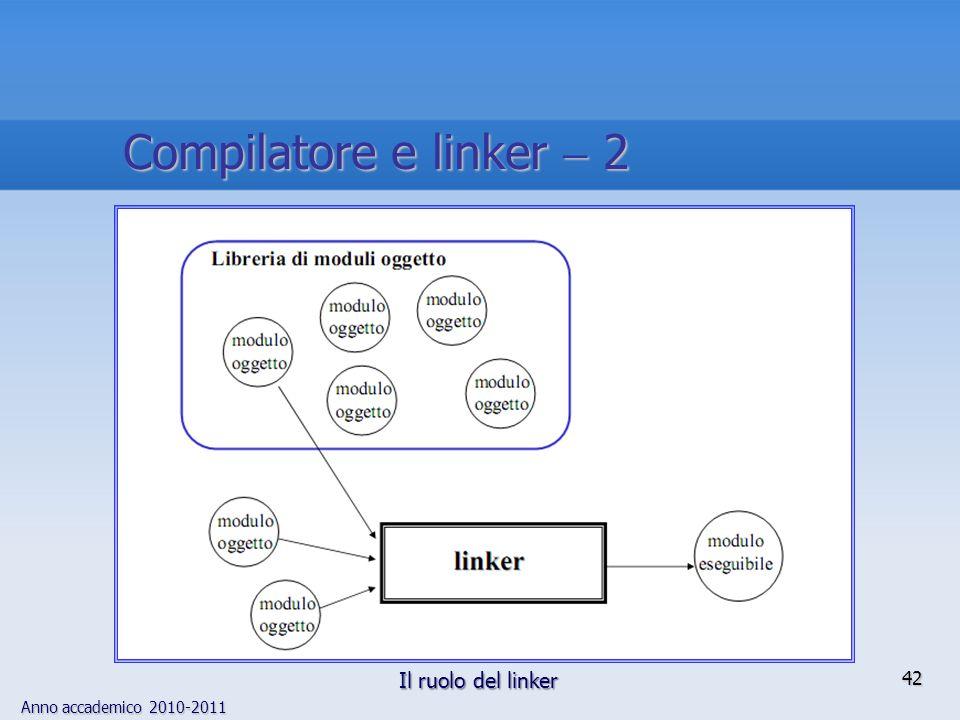 Compilatore e linker  2 Il ruolo del linker