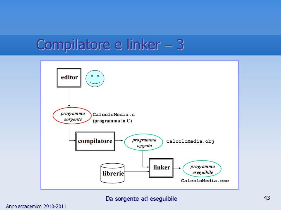Compilatore e linker  3 Da sorgente ad eseguibile