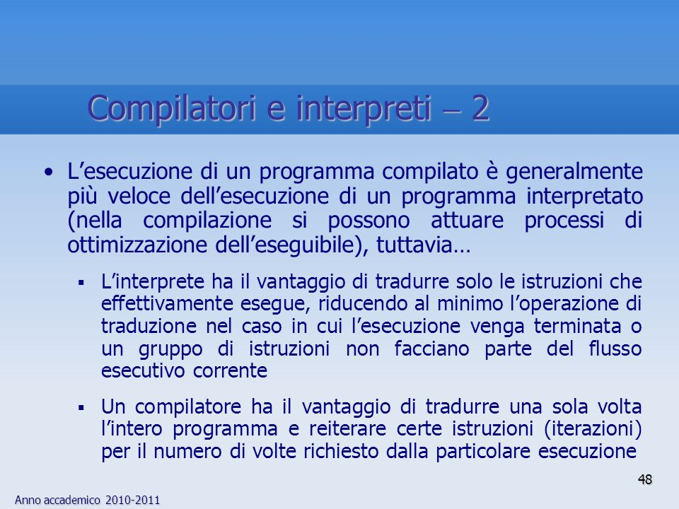 Compilatori e interpreti  2