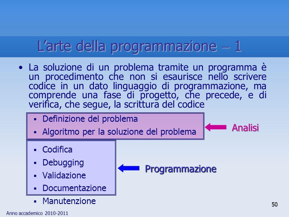 L'arte della programmazione  1