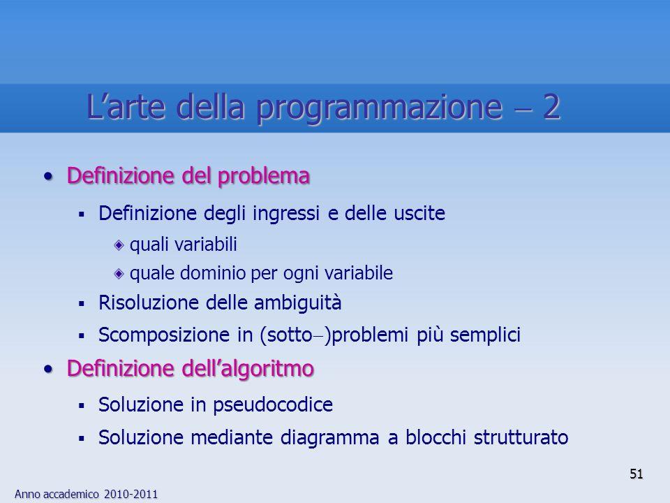 L'arte della programmazione  2