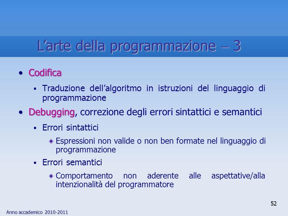 L'arte della programmazione  3