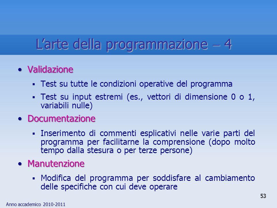 L'arte della programmazione  4