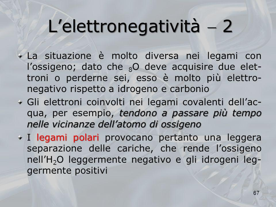 L'elettronegatività  2