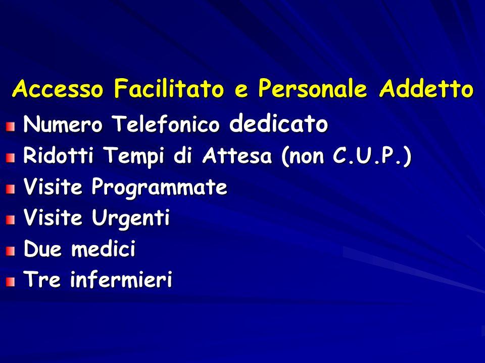 Accesso Facilitato e Personale Addetto