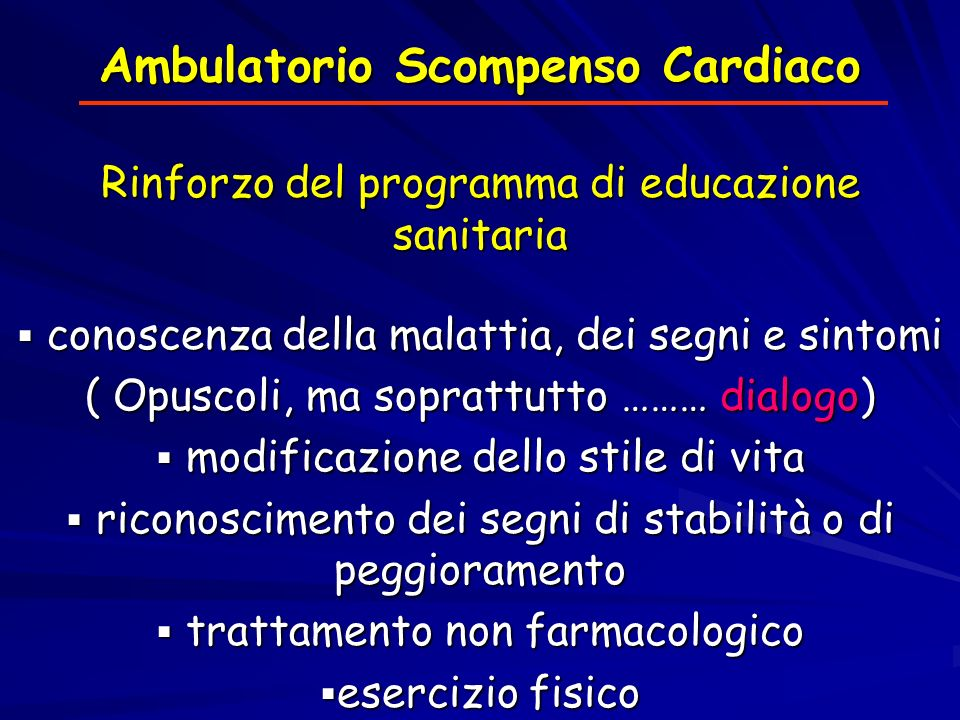 Ambulatorio Scompenso Cardiaco