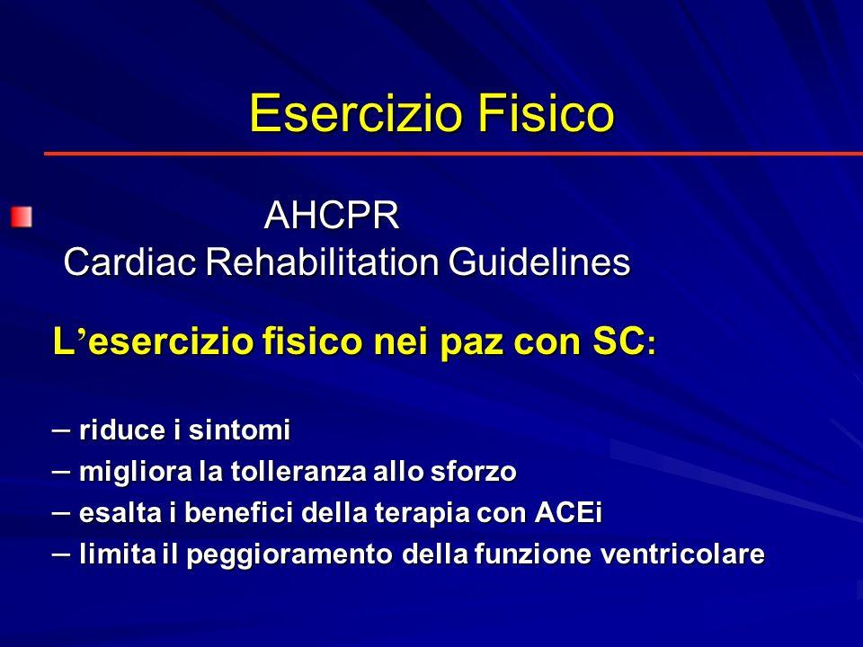 Esercizio Fisico AHCPR Cardiac Rehabilitation Guidelines