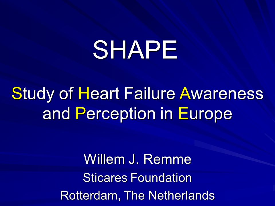 SHAPE Study of Heart Failure Awareness and Perception in Europe